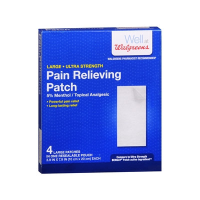 Walgreens Pain Relieving Patches Ultra Strength, 4 ea