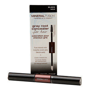 Mineral Fusion - Gray Root Concealer For Hair Black - 0.28 oz.