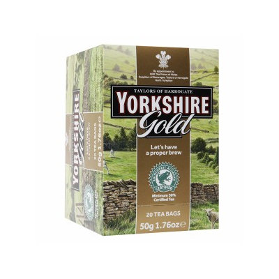 Yorkshire Gold Wrapped Tea Bags, 1.76 oz