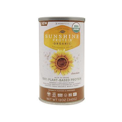 Designer Whey Sunshine Protein Organic, Chocolate, 12 oz
