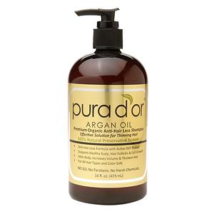 Pura d'Or Premium Organic Anti-Hair Loss 16-ounce Shampoo