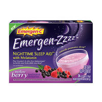 Emergen-C Emergen-zzzz Nighttime Sleep Aid with Melatonin, Mellow Berry