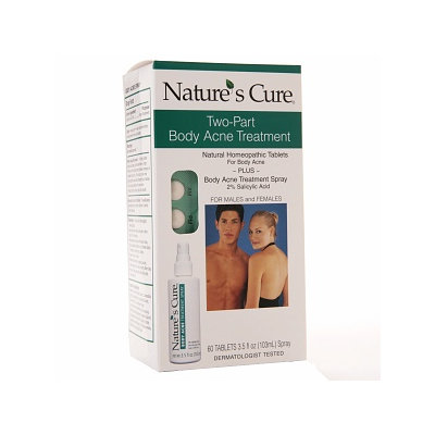 Nature's Cure Two-Part Body Acne Treatment for Males and Females - 1 Kit