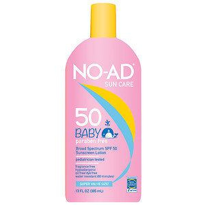 NO-AD Baby SPF 50 Sunscreen Lotion, 13 oz