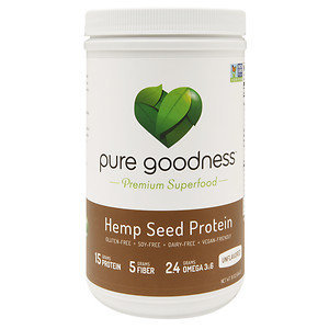 Pure Goodness Hemp Seed Protein, Unflavored, 16 oz