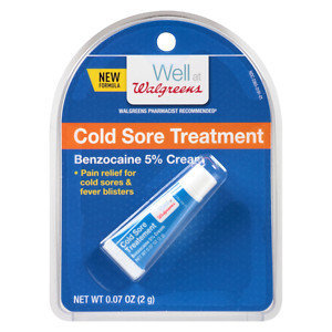 Walgreens Cold Sore Cream, .07 oz