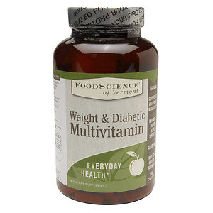 FoodScience of Vermont Weight & Diabetes Multivitamin 180 Caplets