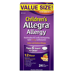 Children's Allegra Meltable Tablets