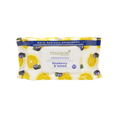 Petal Fresh Botanicals Facial Wipes, Repairing Blueberry & Lemon, 60 ea