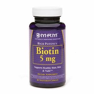 MRM - Biotin High Potency 5 mg. - 60 Vegetarian Capsules