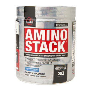 Image Sports - Amino Stack Performance & Strength Drink Mix Blue Raspberry - 11.64 oz.