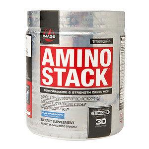 Image Sports - Amino Stack Performance & Strength Drink Mix Blue Raspberry - 11.64 oz.