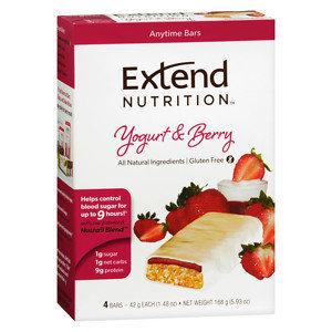 Extend Nutrition Bars, Yogurt & Berry, 4 pk, 1.48 oz