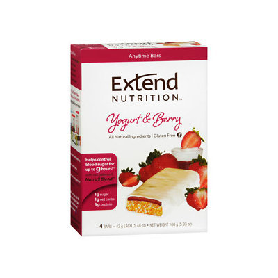 Extend Nutrition Bars, Yogurt & Berry, 4 pk, 1.48 oz
