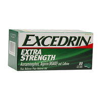 Excedrin Extra Strength Pain Reliever Geltabs, 80 ea
