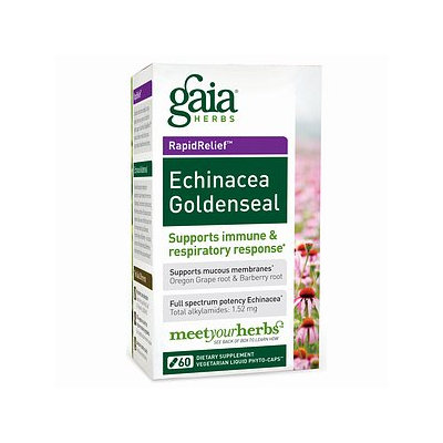 Gaia Herbs Echinacea Goldenseal, Liquid-Filled Capsules