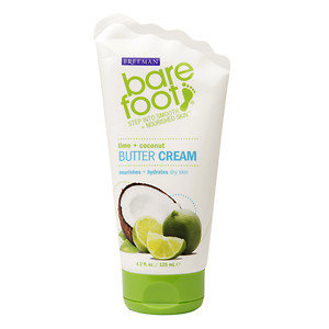 Freeman Bare Foot Butter Cream, Lime + Coconut