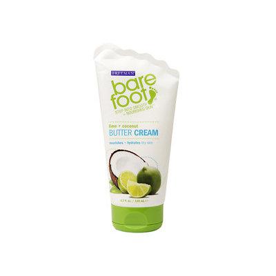 Freeman Bare Foot Butter Cream, Lime + Coconut, 4.2 fl oz