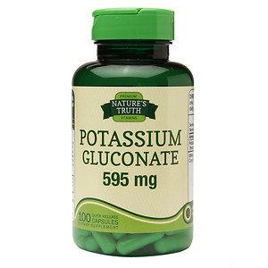 Nature's Truth Potassium Gluconate 595mg, 100 ea