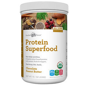 Amazing Grass Protein Superfood Chocolate Peanut Butter 15.1 oz