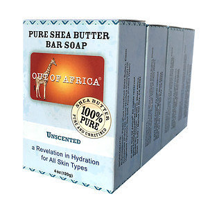 Out Of Africa Bar Soap, 4 pk, Unscented, 4 oz