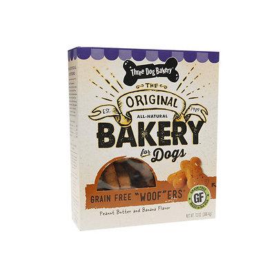 Three Dog Bakery Grain Free Woofers, Peanut & Banana, 13 oz