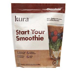 Kura New Zealand Protein Smoothie Powder, Chocolate, 16.9 oz