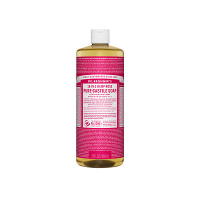 Dr. Bronner's Organic Pure Castile Liquid Soap Rose - 32 fl oz