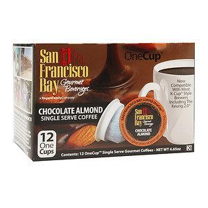 San Francisco Bay Gourmet Coffee OneCup Single Serve Coffees, Chocolate Almond, 12 ea