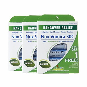 Boiron Nux Vomica 30C Hangover Relief Value Pack, 1 set