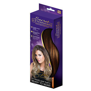 Secret Extensions Thicker, Fuller, Longer Hair, Medium Red Brown, 1 ea