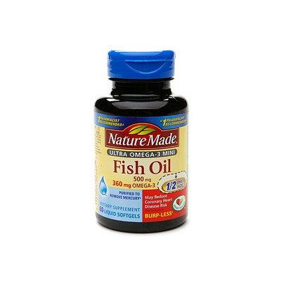 Nature Made Ultra Omega-3 Mini Fish Oil 500 mg Liquid Softgels