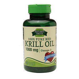 Nature's Truth 100% Pure Red Krill Oil 1000mg Omega-3, 60 ea