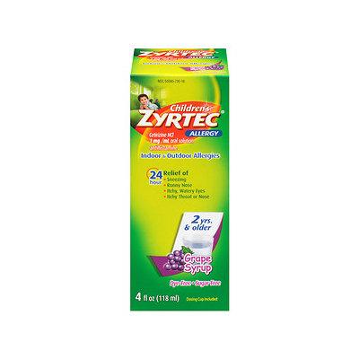 Zyrtec Children's Allergy Relief Liquid, Grape Syrup - 4 fl oz