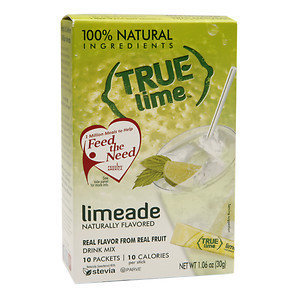 True Lime Drink Mix, Packets, Limeade, 10 ea