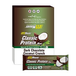 Mauer Classic Protein Bar, Dark Chocolate Coconut Crunch, 12 pk, 2.6 oz