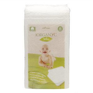 ORGANYC Organic Cotton Squares, 60 ea