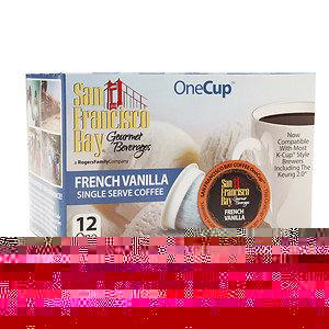 San Francisco Bay Gourmet Coffee OneCup Single Serve Coffees, French Vanilla, 12 ea