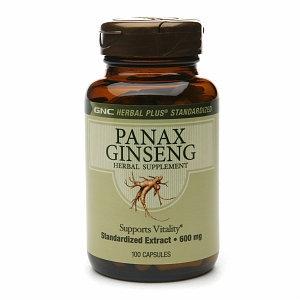GNC Herbal Plus Panax Ginseng 600mg Capsules, 100 ea