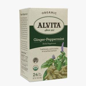 Alvita Tea Organic Ginger Peppermint Tea-24 Bags