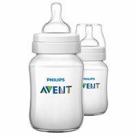 Avent SCF563/27 Bottle Classic+ PP, 9 oz, Clear, 2 ea