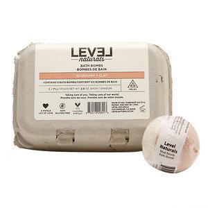 Level Naturals Bath Bombs, Rosemary + Clay, 6 ea