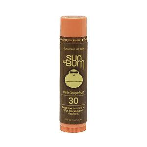 Sun Bum Sunscreen Lip Balm SPF 30, Pink Grapefruit, .15 oz