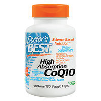 Doctor's Best - CoQ10 High Absorption with BioPerine 400 mg. - 180 Vegetarian Capsules