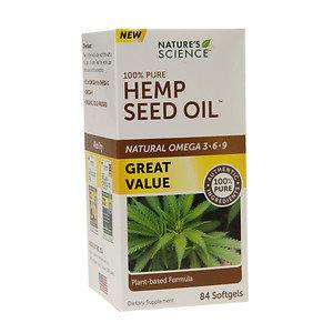 Nature's Science Hemp Seed Oil, Softgels, 84 ea