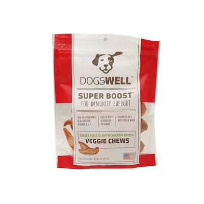 Dogswell DG13233 Super Boost Veggie Chews Sweet Potato With Chicken Broth - 5 Oz.