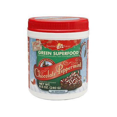 Amazing Grass Green SuperFood Drink Powder, Chocolate Peppermint, 8.5 oz