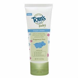 Tom's of Maine Baby Diaper Cream, Fragrance Free, 3 oz
