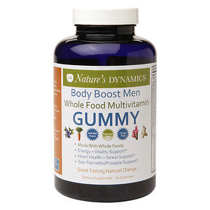 Natures Dynamics Nature's Dynamics - Body Boost Men Organic Multivitamin Whole Food Gummy Natural Orange - 60 Gummies