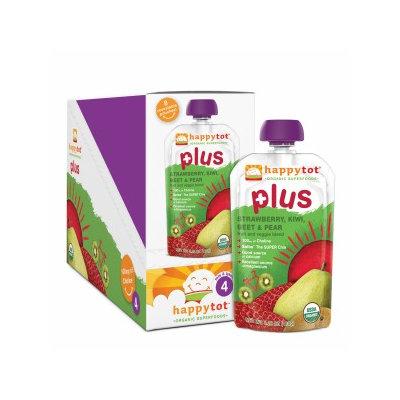 Happy Tots Organic Superfood Plus Strawberry, Kiwi, Beet & Pear
